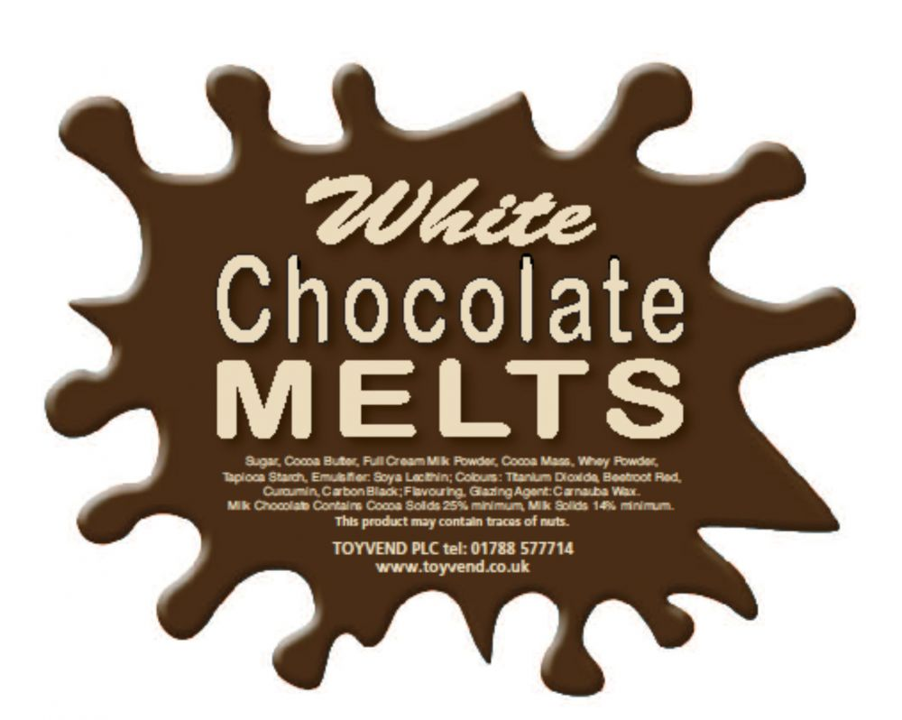 White Chocolate Melts (3kgs) - Candy   Toyvend - supplier of ...