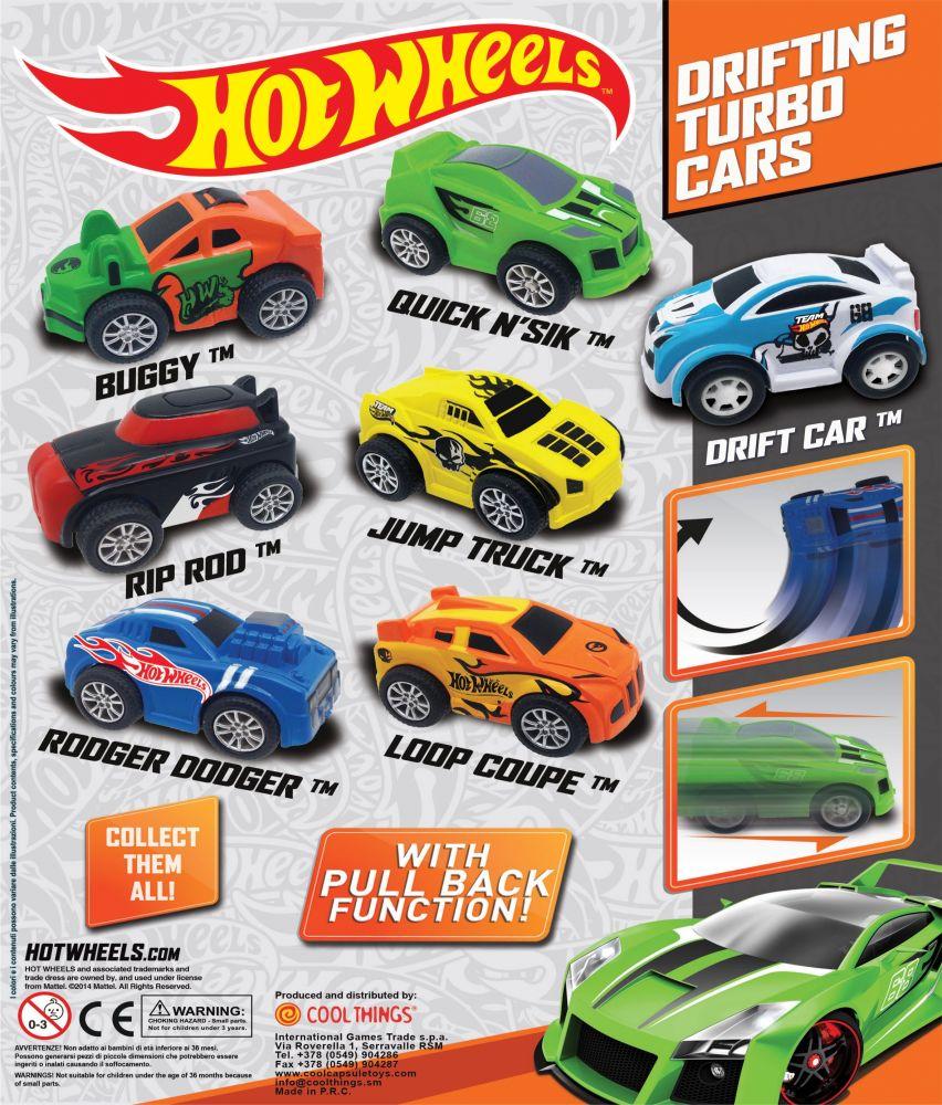 Hot Wheels Drifting Turbo Cars 50mm Capsules Toyvend