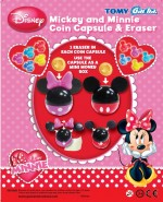 Mickey & Minnie Coin Capsule with Eraser (50mm)