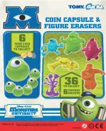 Monsters Inc Coin Capsule & Figure Erasers (50mm)