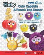 Furby Coin Capsule & Pencil Top Eraser