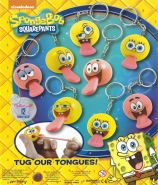 SpongeBob Tongue Tuggerz with Keychain (50mm)