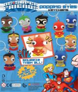 DC Super Friends Popping Eyes Keychains (50mm)