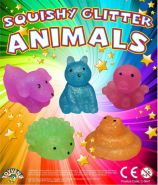 Squishy Glitter Animals (50mm)