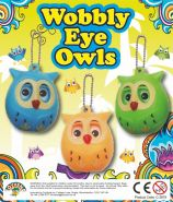 Wobbly Eye Owls (50mm)