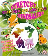 Stretchy Colour Changing Dinosaurs (50mm)