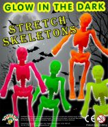 Glow in the Dark Stretch Skeletons (50mm)